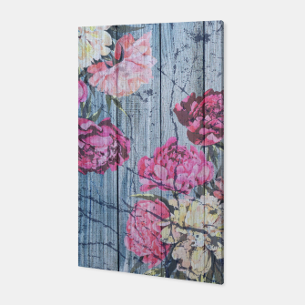 Thumbnail image of Shabby chic with painted peonies Canvas, Live Heroes