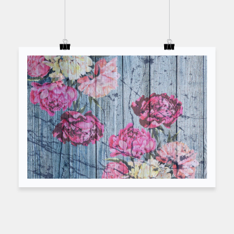 Thumbnail image of Shabby chic with painted peonies Poster, Live Heroes