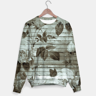 Thumbnail image of Sepia Shabby chic Sweater, Live Heroes