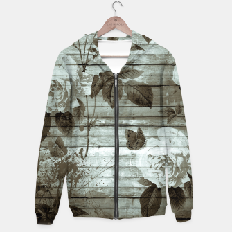 Thumbnail image of Sepia Shabby chic Hoodie, Live Heroes