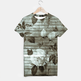 Thumbnail image of Sepia Shabby chic T-shirt, Live Heroes