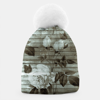 Thumbnail image of Sepia Shabby chic Beanie, Live Heroes