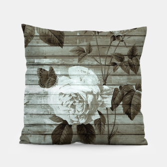 Thumbnail image of Sepia Shabby chic Pillow, Live Heroes