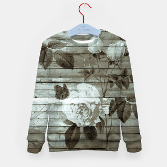 Thumbnail image of Sepia Shabby chic Kid's Sweater, Live Heroes