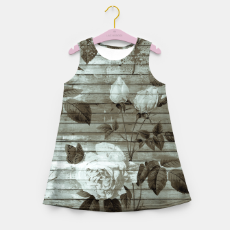 Thumbnail image of Sepia Shabby chic Girl's Summer Dress, Live Heroes