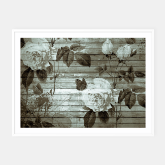 Thumbnail image of Sepia Shabby chic Framed poster, Live Heroes