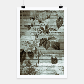 Thumbnail image of Sepia Shabby chic Poster, Live Heroes