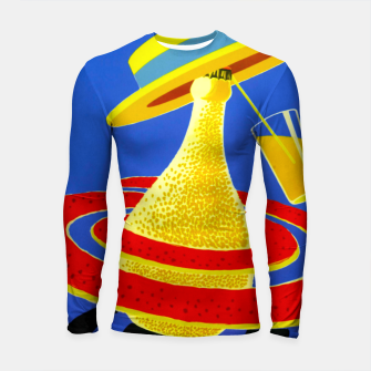 Thumbnail image of Ms. Orange Longsleeve Rashguard , Live Heroes