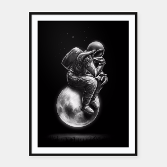Thumbnail image of Space Thinker Framed poster, Live Heroes