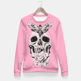 Thumbnail image of Skull butterfly and pink Fitted Waist Sweater, Live Heroes