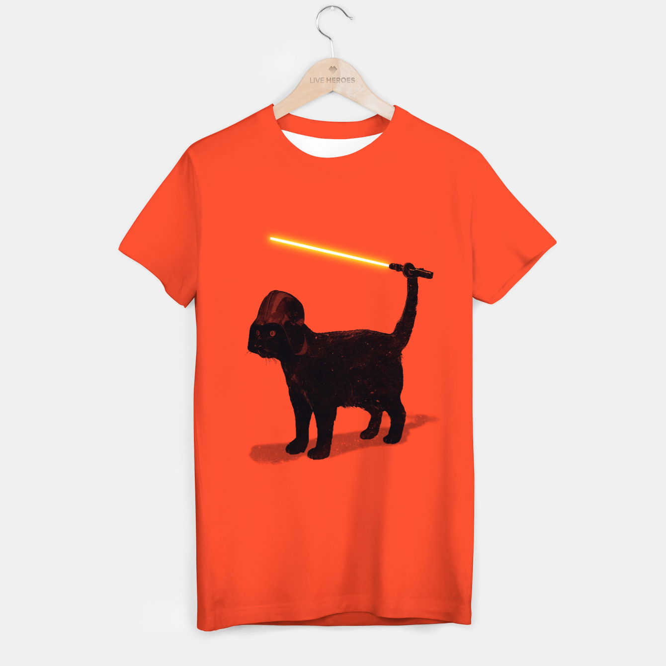 Image of Cat Vader T-shirt - Live Heroes