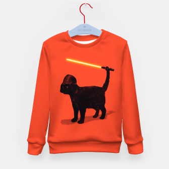 Thumbnail image of Cat Vader Kid's Sweater, Live Heroes