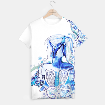 Thumbnail image of Dublin Angel Blue TShirt, Live Heroes