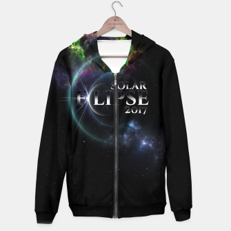 Thumbnail image of Solar Eclipse 2017 Fractal Art Hoodie, Live Heroes
