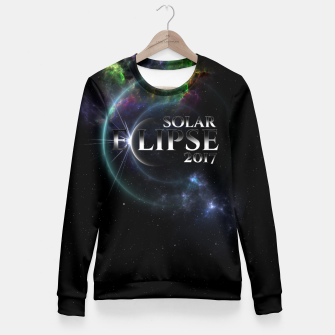 Solar Eclipse 2017 Fractal Art Fitted Waist Sweater thumbnail image