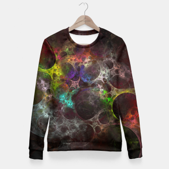 Thumbnail image of Multicolored fractal with holes Fitted Waist Sweater, Live Heroes