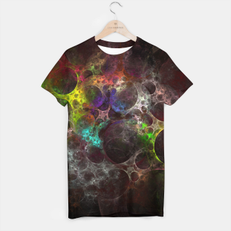 Thumbnail image of Multicolored fractal with holes T-shirt, Live Heroes
