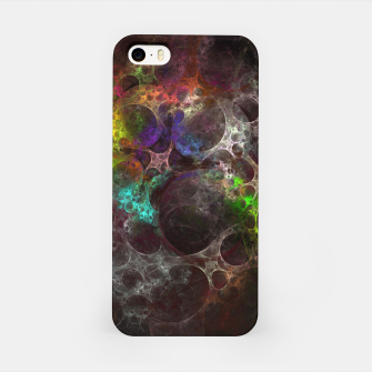 Thumbnail image of Multicolored fractal with holes iPhone Case, Live Heroes