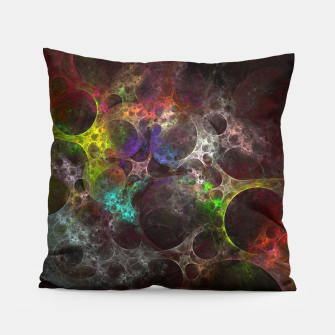 Thumbnail image of Multicolored fractal with holes Pillow, Live Heroes