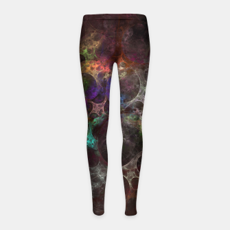 Thumbnail image of Multicolored fractal with holes Girl's Leggings, Live Heroes