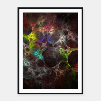 Thumbnail image of Multicolored fractal with holes Framed poster, Live Heroes