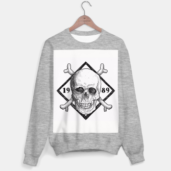 Thumbnail image of Watercolor skull illustration Sweater regular, Live Heroes
