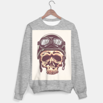 Thumbnail image of Watercolor skull illustration I Sweater regular, Live Heroes