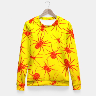 Thumbnail image of Yellow spider Fitted Waist Sweater, Live Heroes