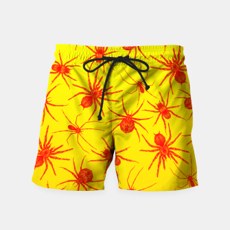 Thumbnail image of Yellow spider Swim Shorts, Live Heroes