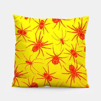 Thumbnail image of Yellow spider Pillow, Live Heroes