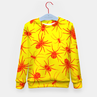 Thumbnail image of Yellow spider Kid's Sweater, Live Heroes