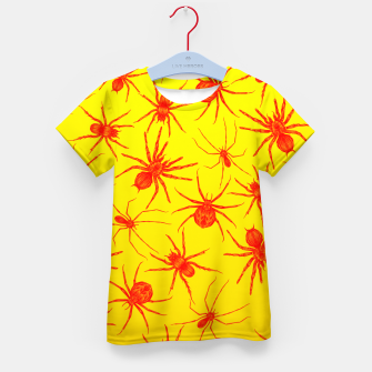 Thumbnail image of Yellow spider Kid's T-shirt, Live Heroes