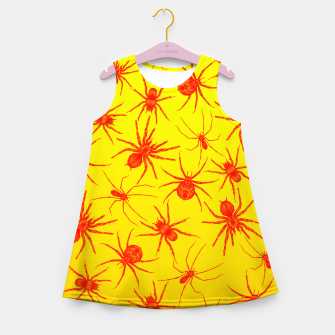 Thumbnail image of Yellow spider Girl's Summer Dress, Live Heroes