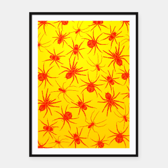 Thumbnail image of Yellow spider Framed poster, Live Heroes