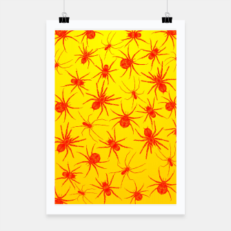 Thumbnail image of Yellow spider Poster, Live Heroes