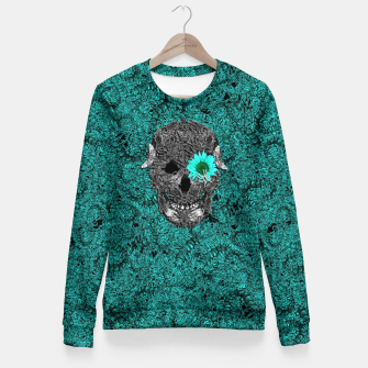 Miniatur Insect Skull Fitted Waist Sweater, Live Heroes