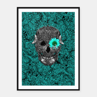 Miniatur Insect Skull Framed poster, Live Heroes