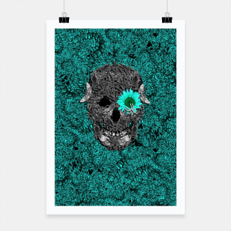 Miniatur Insect Skull Poster, Live Heroes