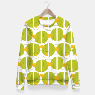 Thumbnail image of Green abstract pattern Fitted Waist Sweater, Live Heroes