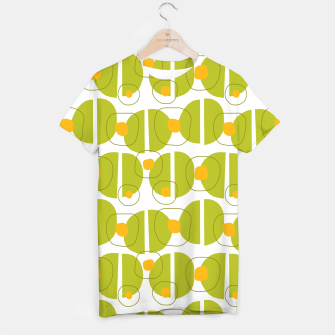 Thumbnail image of Green abstract pattern T-shirt, Live Heroes