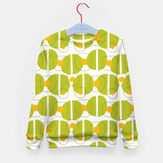 Thumbnail image of Green abstract pattern Kid's Sweater, Live Heroes