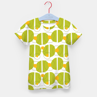 Thumbnail image of Green abstract pattern Kid's T-shirt, Live Heroes
