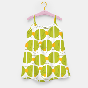 Thumbnail image of Green abstract pattern Girl's Dress, Live Heroes