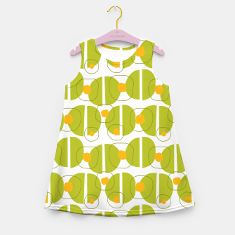 Thumbnail image of Green abstract pattern Girl's Summer Dress, Live Heroes