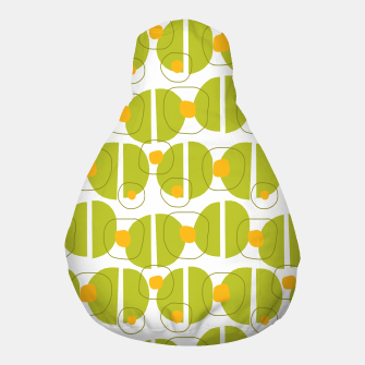 Thumbnail image of Green abstract pattern Pouf, Live Heroes