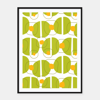 Thumbnail image of Green abstract pattern Framed poster, Live Heroes