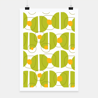 Thumbnail image of Green abstract pattern Poster, Live Heroes