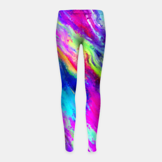 Thumbnail image of Abstract Flow Girl's Leggings, Live Heroes