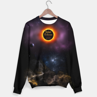 Thumbnail image of Solar Eclipse 2017 Nebula Bloom Fractal Art Sweater, Live Heroes