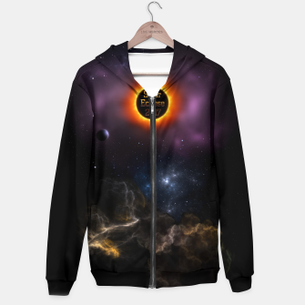 Thumbnail image of Solar Eclipse 2017 Nebula Bloom Fractal Art Hoodie, Live Heroes